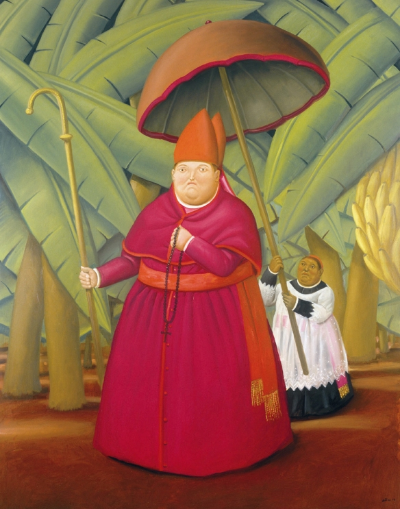 Fernando Botero, Il nunzio, 2004, olio, cm 203 x 160 EuGordinha