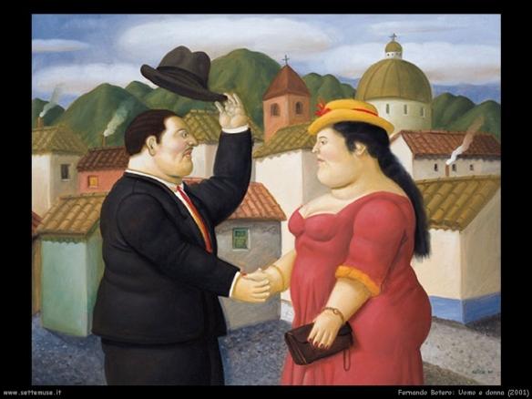 Fernando Botero - Homem e dona Blog EuGordinha
