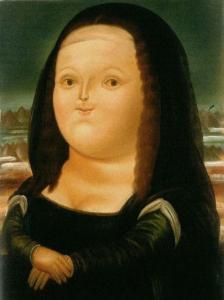 Mona lisa de ferando Botero aos 12 anos