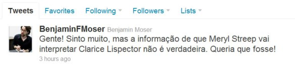 Bejamin Moser - Twitter - EuGordinha