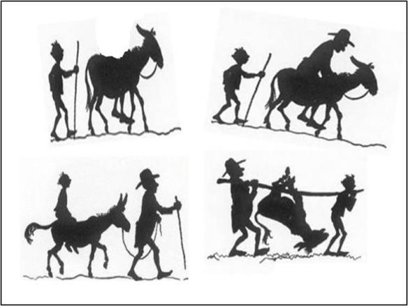 texto do velho o burro e o menino - EuGordinha