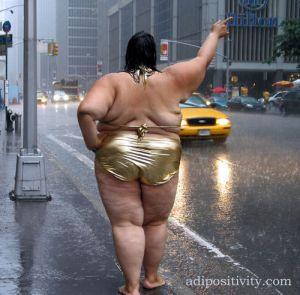 gorda chamando taxi